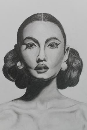 lady drawing